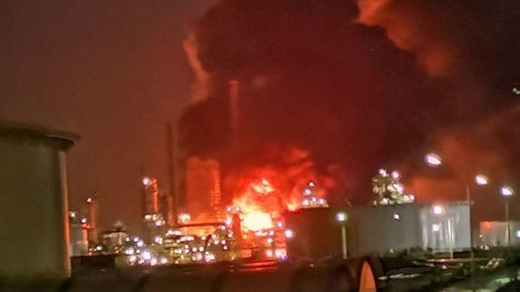 Incendie de la raffinerie Total à Gonfreville